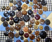 Lot of 70 Primitive Whistle Sewing Buttons-Mixed Compositions