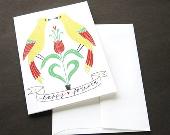 Greeting card - happy forever