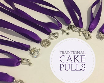 cake pulls ,Choose your own charms:  Cake pulls, Add a cake pull / charm and ribbon to your cake pull order