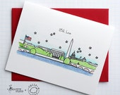 USA Love - Sheeptails - Folded Cards (6)
