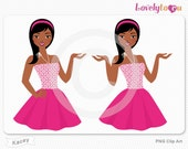 Woman avatar portrait clip art, digital PNG clipart (Kacey B49)