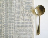 Watermark - screen printed fabric - metallic colours
