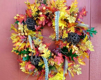 Fall Door Wreath.....Front Door Wreath.....Fall Wreath