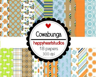 Digital Scrapbooking Cowabunga
