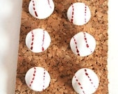 Decorative Pushpins, Home Decor, Office Decor, Thumbtacks, Thumb tacks, Push pins, Pushpins, Baseball Pushpins, Baseball Thumbtacks