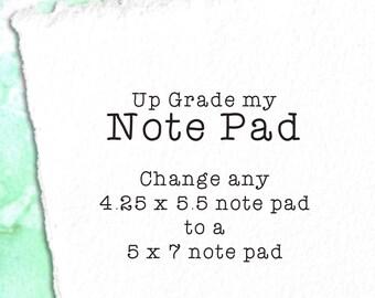 Note Pad Up Grade