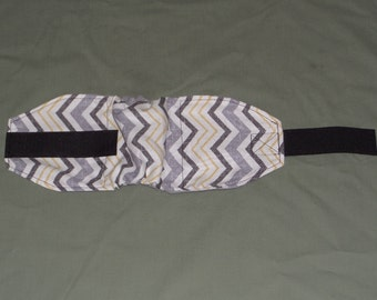Gray Chevron Male Dog Diaper | Chevron Stripe Dog Belly Band | 4 smaller sizes to pick from | Dog Belly wrap | Doggie Doggy Bellyband
