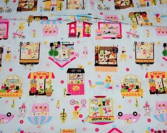 Japanese fabric Animal stores print Half meter A11