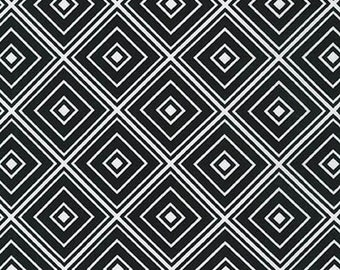 One (1) Yard- Metro Living Diamond Robert Kaufman Fabrics SRK-15082-2 Black