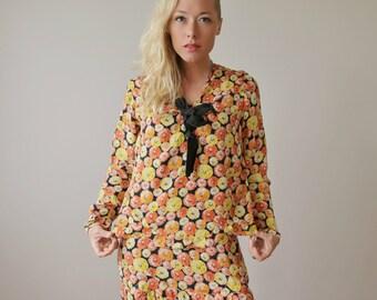 1920s Marigold Burst Dress & Blouse Set >>> Extra Small to Small