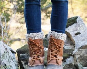 WINTER SALE Boot Warmers Leg Warmers Boot Cuffs / THE Tundras / Oatmeal