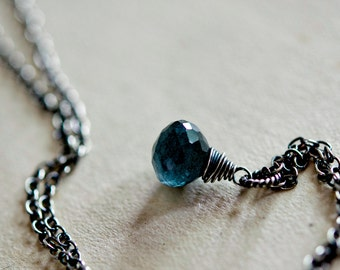 Gemstone Necklace, Moss Aquamarine, Aquamarine Necklace, March Birthstone, Birthstone Jewelry, Sterling Silver, Pendant Necklace