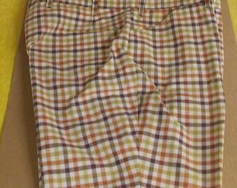 Vintage men's shorts plaid rust brown ecru green Sears The Mens Store 44