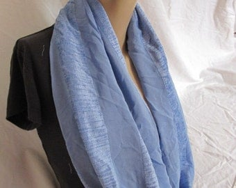 SALE - Blue Texutured Cowl/Circle Scarf/Infinity Scarf (5142)