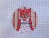 Adorable Aunt Jemima Handpainted Needlepoint Canvas Ornament