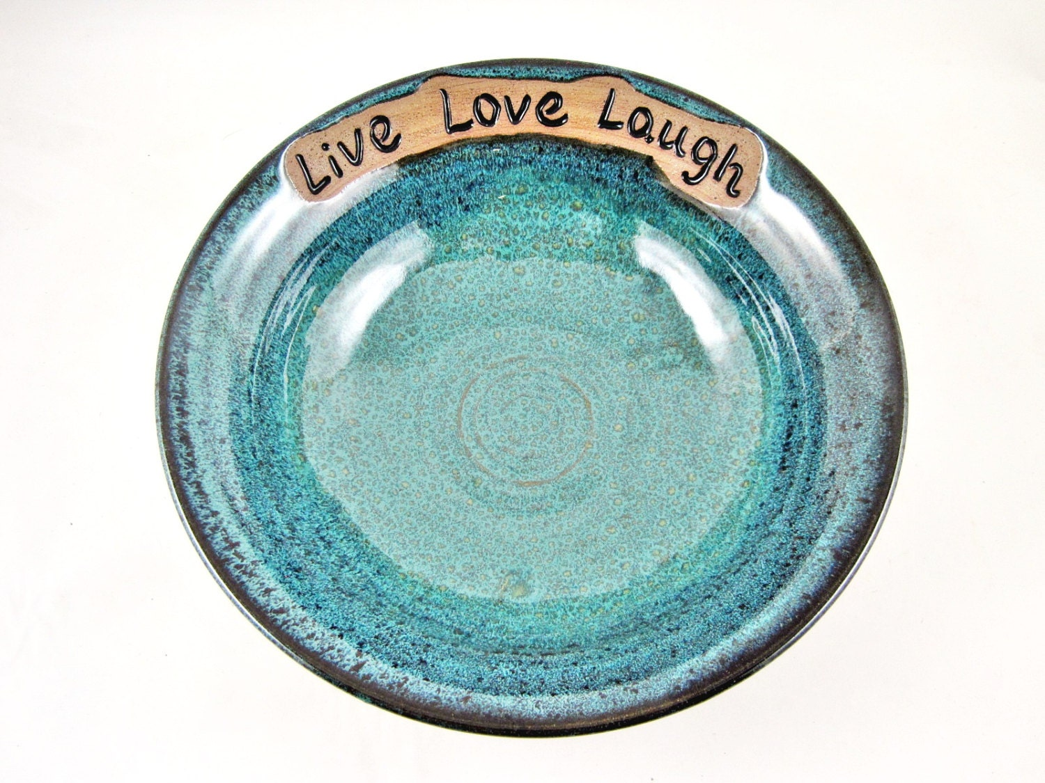 Pottery Wedding Gifts: Pottery Wedding Gift 9th Anniversary Gift Live By