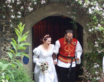 Last Chance at this Price-Ever After Fantasy Medieval or Princess Custom Wedding Gown Custom