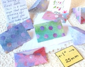 MIniature Envelopes and Stationery, Tiny stationery for use by and for Fairies, Elves and Humans, set of 8, multicolored