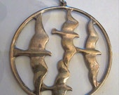 TOWLE Sterling Silver Birds In Flight-Sea Gull Large Pendant