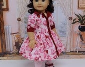 Love You - vintage style dress for American Girl doll