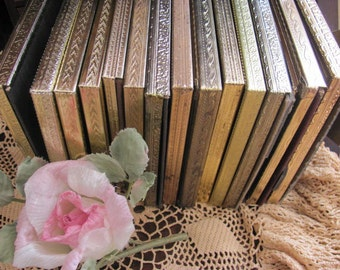 lot 14  Gold Metal 5 x7 Picture Frames, Wedding Table Numbers, Place Cards,Spray Repurpose,Upscale