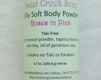 Body Powder Roses in Pink