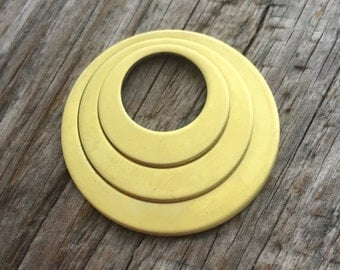 20g Brass Off Center Washers 3 piece set  - Jewelry Supply Blank