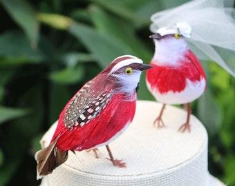 Partridge Wedding Cake Topper