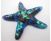 Blue, Purple and Turquoise Textured Dichroic Starfish