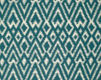 Teal Turquoise Ikat Fitted Crib Sheet, Ready to Ship