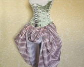 FLASH OFFER Purple Green Candy Stripe Bustle Skirt-One Size Fits All