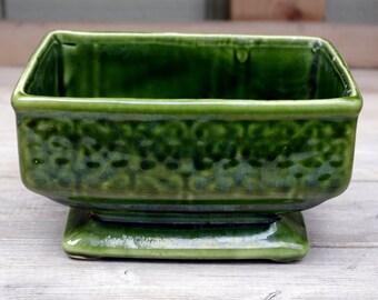 USA Pottery Planter Green