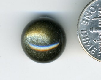 GOLDEN SHEEN OBSiDIAN AA Grade 12mm Round Cabochon
