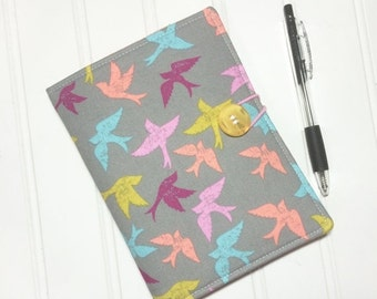 SUMMER SALE - Mini Shopper - Notepad holder List taker - Birds