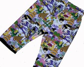 Harajuku Clothing - Japanese Clothing - Purple Baby Pants - Asian Clothing - Baby Pants - Girl Pants - Toddler Pants - Sizes Nb to 18m
