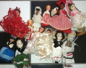 Vintage lot of dolls International doll 40's 50's 60's  sleeping eyes  wink eye 1940''s 1950's 1960's