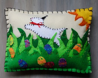 Easter Felt Pillow Custom Orders Only You Pick Breed
