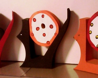 """Wooden Halloween """"Boo"""" cats decoration"""