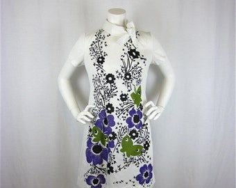 50% Off Sale Vintage Mad Men Era Mini Dress, Sz S, M