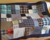 Quilt from shirts Memory Quilt throw blanket from flannel shirts custom order