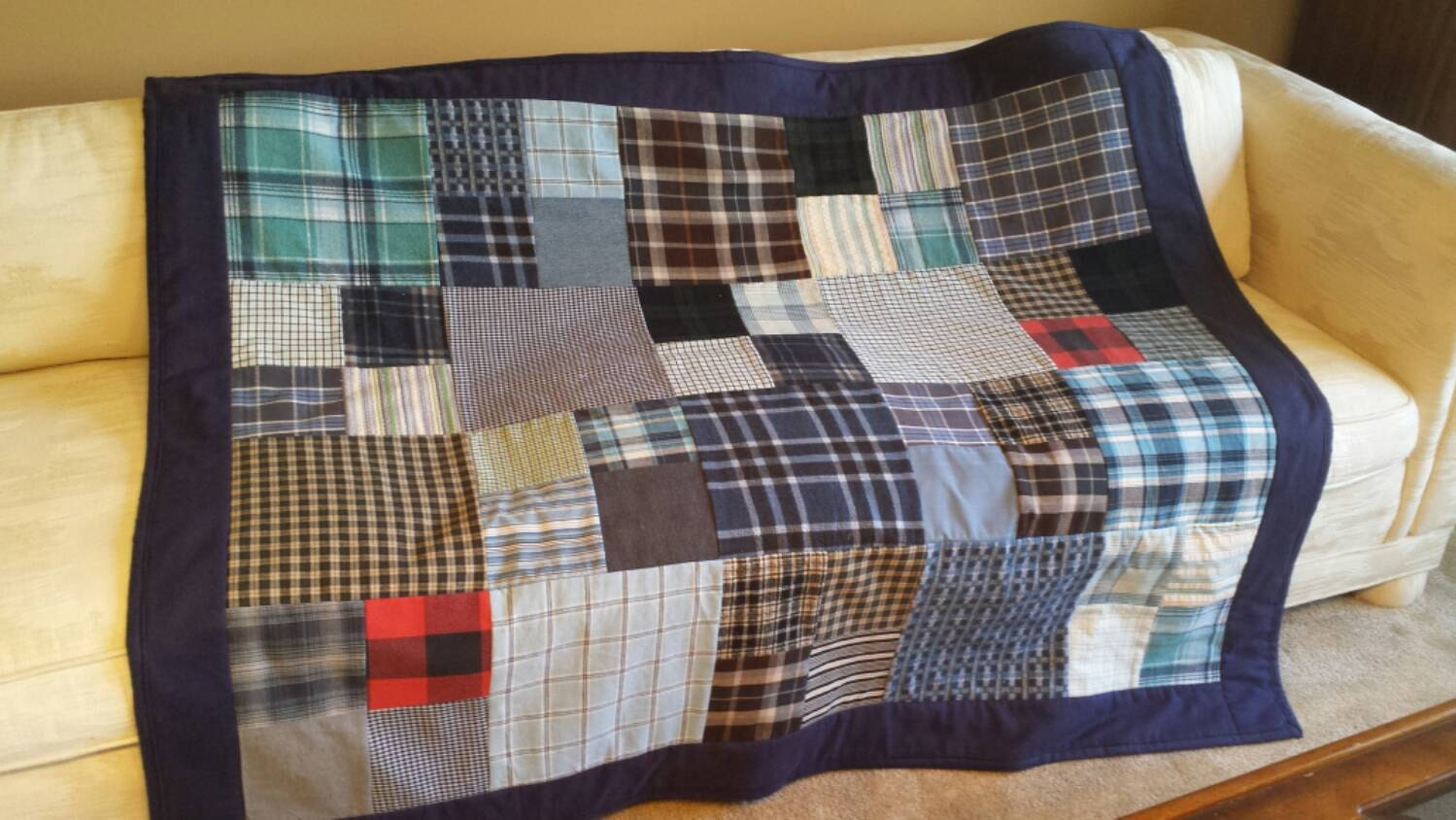 Quilt From Shirts Memory Quilt Throw Blanket From Flannel