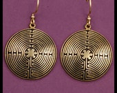 11- CIRCUIT LABYRINTH- Earring- Large- Bronze
