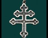 Cross of Lorraine- Sterling Silver