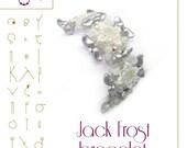 Bracelet tutorial / pattern Jack Frost bracelet – PDF instruction for personal use only