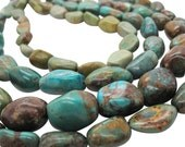 Turquoise Nugget, Turquoise Beads, Green Blue Turquoise, December Birthstone, SKU 5150A