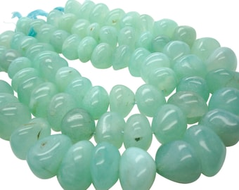 Green Chalcedony Beads, Smooth Nuggets, Chalcedony Beads, SKU 5139A