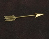 Arrow Charm, 77mm brass stamped, sold by 3 each, 02028AG