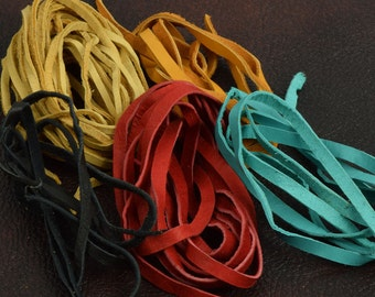 Leather Lace Cord, sold by color, 6 pieces per package 18' total, J534