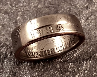 1984 Coin Ring Quarter YOUR SIZE 5 to 10.5 MR0705-Tyr1984