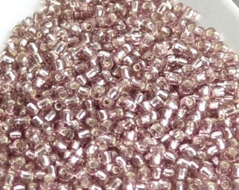 11/0 Japanese Seed Beads - Silver Lined Light Amethyst 12